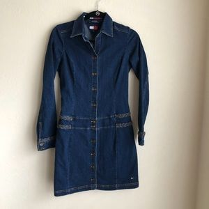 Tommy Hilfiger Fitted Denim Dress